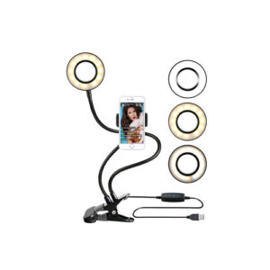 Ring light with cell phone holder stand