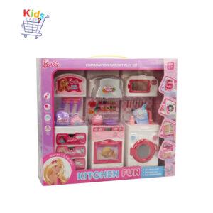 Kitchen Barbie Combination Cabinet Play Set
