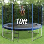 Trampoline Round Exercise Jumping Pad with Net Safety Collapsible Design 10ft