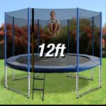 Trampoline Round Exercise Jumping Pad with Net Safety Collapsible Design 12ft