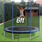 Trampoline Round Exercise Jumping Pad with Net Safety Collapsible Design 6ft