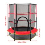 Trampoline Round Exercise Jumping Pad with Net Safety Collapsible Design Size