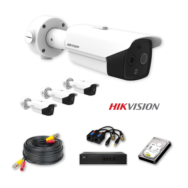 Hikvision 4 CCTV HD Cameras Package